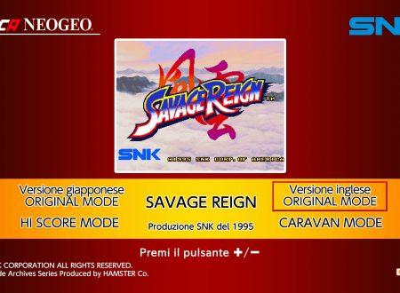 ACA NeoGeo Savage Reign: uno sguardo in video al titolo dai Nintendo Switch europei