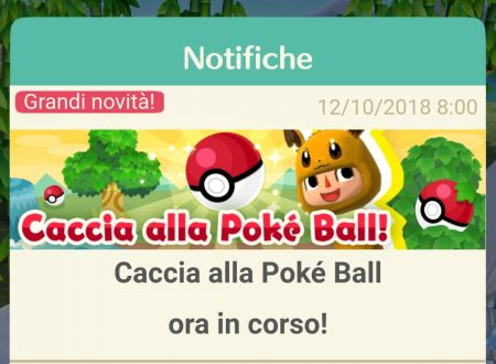 Animal Crossing: Pocket Camp: ora disponibile l'evento Caccia alla Pokè ball
