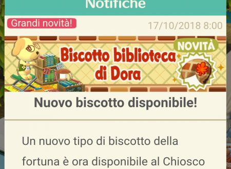 Animal Crossing: Pocket Camp, ora disponibile il biscotto della fortuna di Dora
