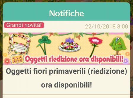 Animal Crossing: Pocket Camp, ritorno per gli oggetti fiori primaverili, ora disponibili