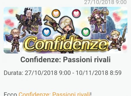 Fire Emblem Heroes: ora disponibile l'evento Confidenze: Passioni rivali