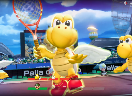 Mario Tennis Aces: uno sguardo in video gameplay a Koopa Paratroopa nel Torneo di novembre