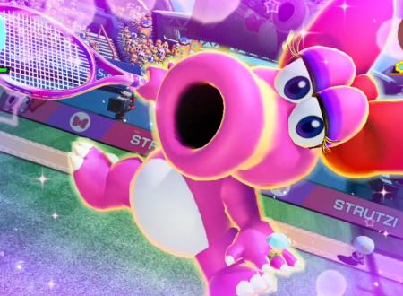 Mario Tennis Aces: uno sguardo in video gameplay a Strutzi nel Torneo di ottobre