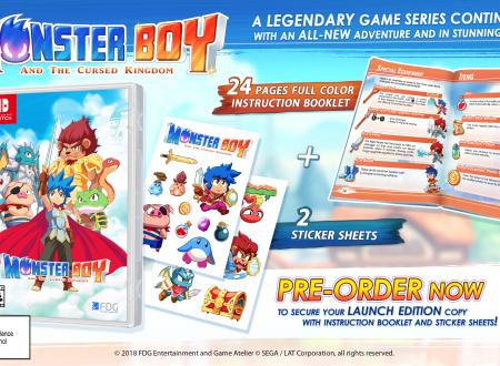 Monster Boy and the Cursed Kingdom, il titolo rinviato al prossimo 4 dicembre