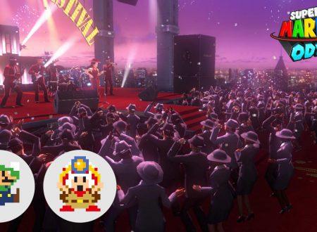 Super Mario Odyssey: 39 Luigi e Captain Toad 8-bit inonderanno il festival di New Donk City per il primo anniversario del titolo