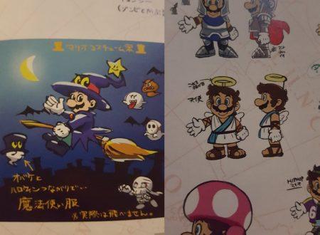 Super Mario Odyssey: mostrati dei nuovi concept art dei costumi scartati di Mario