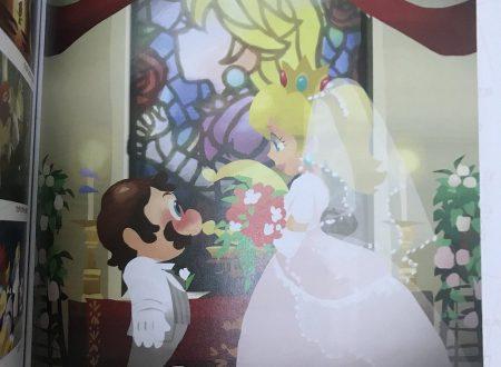 Super Mario Odyssey: un concept art del libro ufficiale mostra Mario e Peach sposi