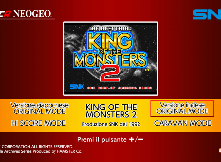 ACA NEOGEO King of the Monsters 2: uno sguardo in video al titolo dai Nintendo Switch europei