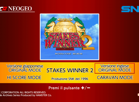 ACA NeoGeo Stakes Winner 2: uno sguardo in video al titolo dai Nintendo Switch Europei