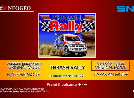 ACA NeoGeo Thrash Rally: uno sguardo in video al titolo dai Nintendo Switch europei