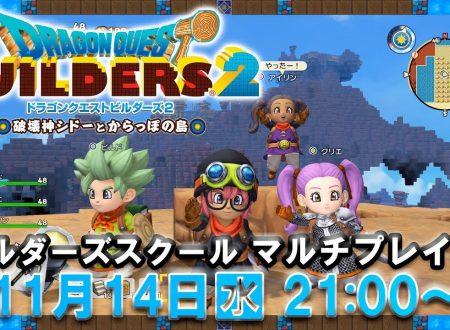 Dragon Quest Builders 2: rivelato l'arrivo del Builders School Multiplayer Party broadcast