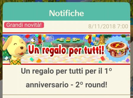 Animal Crossing: Pocket Camp: ora disponibile il secondo round del regalo per il 1° anniversario