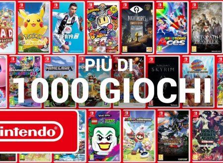 Nintendo Switch: pubblicato un trailer dedicato agli oltre 1000 titoli presenti sulla console