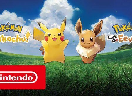 Pokèmon Let's Go: Pikachu & Eevee, pubblicato il trailer di lancio dei due titoli