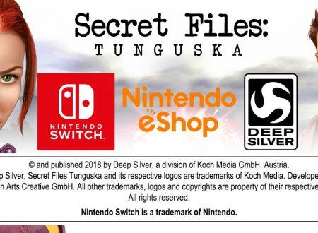Secret Files Tunguska: il titolo è in arrivo il 30 novembre sull'eShop di Nintendo Switch