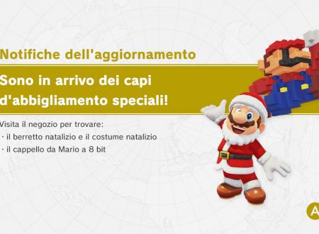 Super Mario Odyssey: il berretto e costume natalizio e il cappello da Mario 8-bit, sono ora disponibili nel titolo
