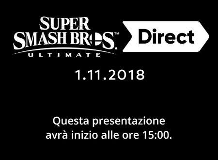 Super Smash Bros Ultimate Direct, 1.11.2018, link e video della diretta livestream di Nintendo