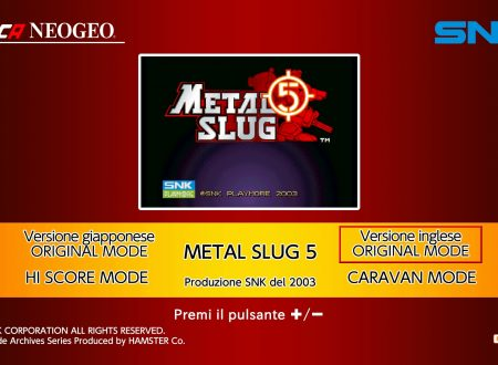 ACA NEOGEO Metal Slug 5, uno sguardo in video al titolo dai Nintendo Switch europei