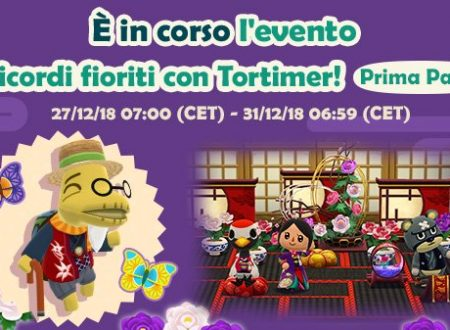 Animal Crossing: Pocket Camp: disponibile le sfide capodanno e l'evento, i ricordi fioriti con Tortimer