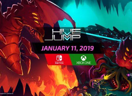 Hive Jump: il titolo è in arrivo l'11 gennaio sull'eShop di Nintendo Switch