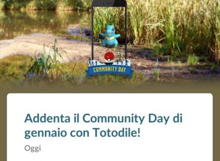 Pokèmon GO: Totodile sarà protagonista del Community Day del mese di gennaio