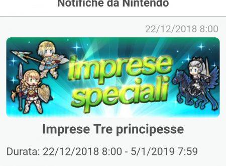 Fire Emblem Heroes: ora disponibili le nuove imprese le tre principesse