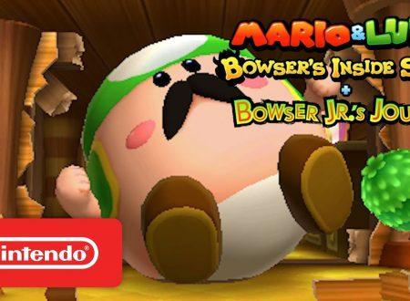 Mario & Luigi: Viaggio al centro di Bowser + Le avventure di Bowser Junior, pubblicato lo Story Trailer del titolo