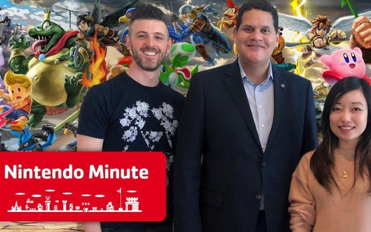 Nintendo Minute: Reggie Reacts to Super Smash Bros. Ultimate con Kit e Krysta