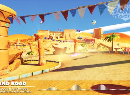 Team Sonic Racing: mostrato un video con la soundtrack del tracciato Sand Road