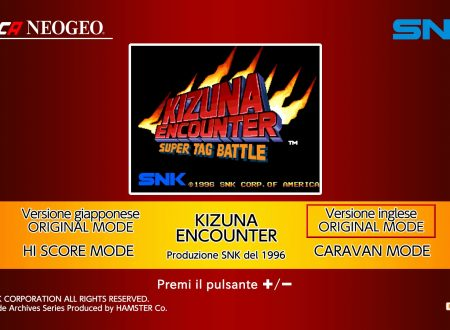ACA NEOGEO Kizuna Encounter: uno sguardo in video al titolo dai Nintendo Switch europei