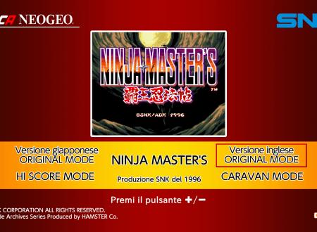 ACA NEOGEO Ninja Master's: uno sguardo al titolo dai Nintendo Switch europei