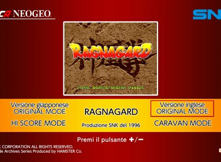 ACA NEOGEO Ragnagard: uno sguardo in video dall'eShop europeo di Nintendo Switch