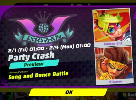 ARMS: rivelato il 6° Round del torneo Party Crash Bash: Ribbon Girl vs. Misango
