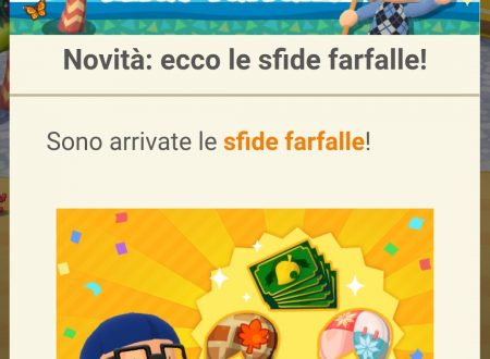 Animal Crossing: Pocket Camp: le sfide farfalle sono ora disponibili nel titolo