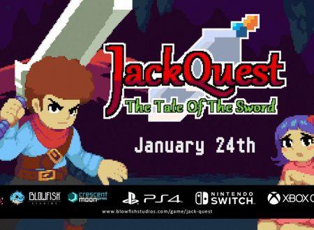 JackQuest: Tale of the Sword, il titolo è in arrivo il 24 gennaio sull'eShop di Nintendo Switch