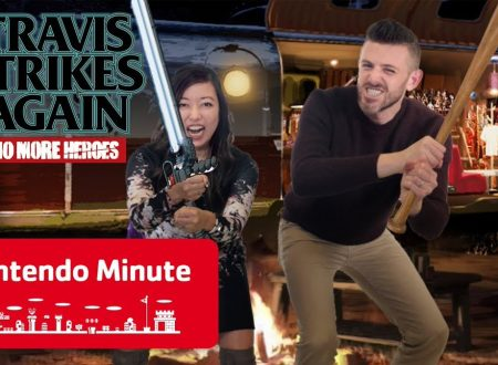 Nintendo Minute: Co-op Gameplay in video su Travis Strikes Again: No More Heroes con Kit e Krysta