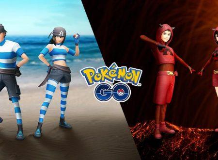 Pokèmon GO: gli outfit del Team Magma e al Team Idro sono ora disponibili per l'avatar nel titolo mobile