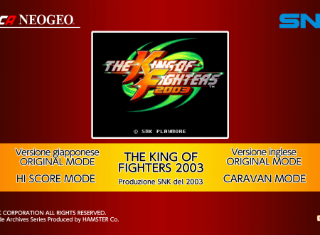 ACA NEOGEO The King of Fighters 2003: uno sguardo in video al titolo dai Nintendo Switch europei