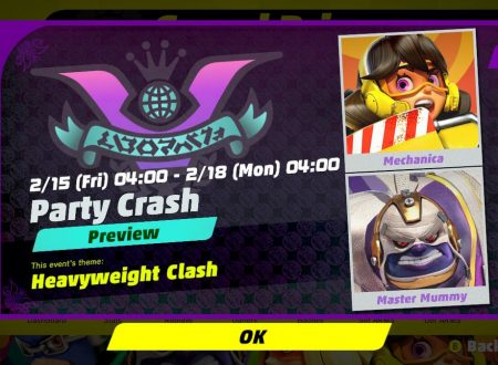 ARMS: rivelato il 7° Round del torneo Party Crash Bash: Mechanica vs. Master Mummy