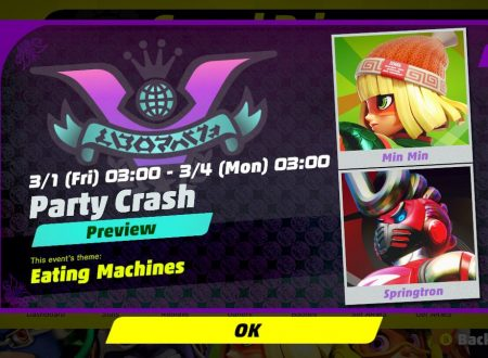 ARMS: rivelato l'8° Round del torneo Party Crash Bash: Min Min vs. Springtron