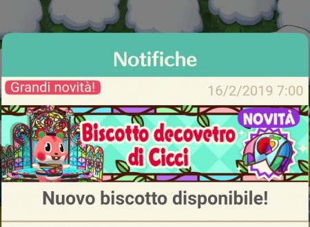 Animal Crossing: Pocket Camp, ora disponibile il biscotto decovetro di Cicci