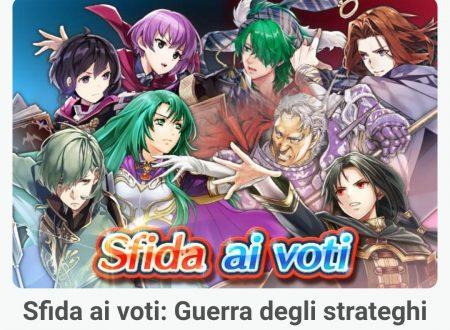 Fire Emblem Heroes: ora disponibile la sfida ai voti: Guerra degli strateghi