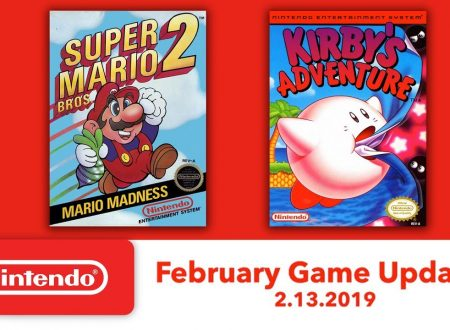 Nintendo Switch Online: Super Mario Bros. 2 e Kirby's Adventure sono in arrivo il 13 febbraio
