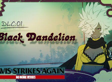 Travis Strikes Again: No More Heroes, il DLC: Vol. 1: Black Dandelion, è in arrivo il 28 febbraio
