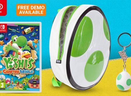 Yoshi's Crafted World, il titolo è in preorder sul Nintendo UK Store con borsa e portachiavi di Yoshi