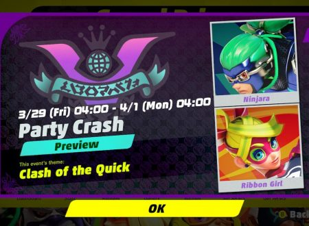 ARMS: rivelato il 10° Round del torneo Party Crash Bash: Ninjara vs. Ribbon Girl