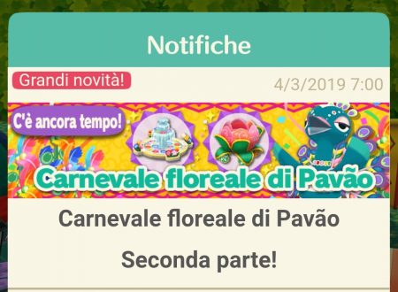 Animal Crossing: Pocket Camp: disponibile la seconda parte del Carnevale floreale di Pavão
