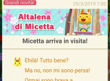 Animal Crossing: Pocket Camp, Micetta arriva in visita nei campeggi del titolo