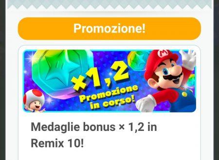 Super Mario Run: di nuovo disponibile la promozione Medaglie bonus x1.2 in Remix 10