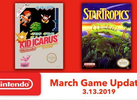 Nintendo Switch Online: Kid Icarus e StarTropics sono in arrivo il 13 marzo